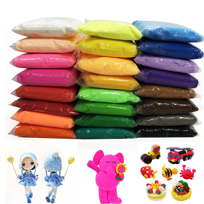 24 Color Light Clay Soft Plasticine Children/kids Can Make Various Shapes Model Puzzle Toys DIY Handmade Materials 100g/bag