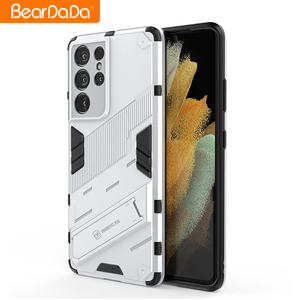 Image 4 - Armor For Samsung s21 ultra case cover Shockproof Holder Phone Case PC Silicone For Samsung galaxy s21 Plus fe Case Coque Fundas