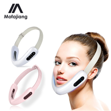 V Face Massager Facial Lifting Face Slimming Double Chin Reducer LED Photon Light Therapy EMS Anti Aging Wrinkles Belt Device