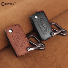KEYYOU Remote 2 Buttons Car key Leather Styling Case Cover For PEUGEOT 207 307 407 408 For CITROEN C2 C3 C4 C5 C6 Auto Key Bag