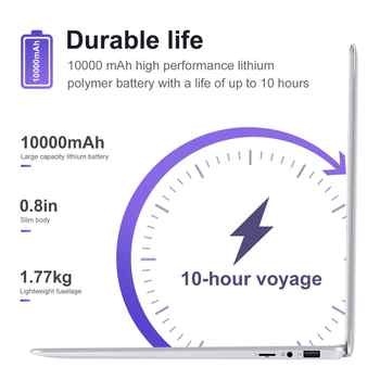 LHMZNIY Student Laptop 15.6 14.1 Inch Intel Quad Core 4GB RAM Netbook 1080P Windows 10 Notebook with WiFi Bluetooth Webcam