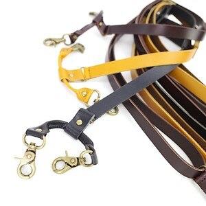 Image 4 - 1.7 centimetri di trasporto di Alta qualità reale della pelle bovina spaccato della cinghia di cuoio degli uomini Delle Donne unisex Gancio bretelle