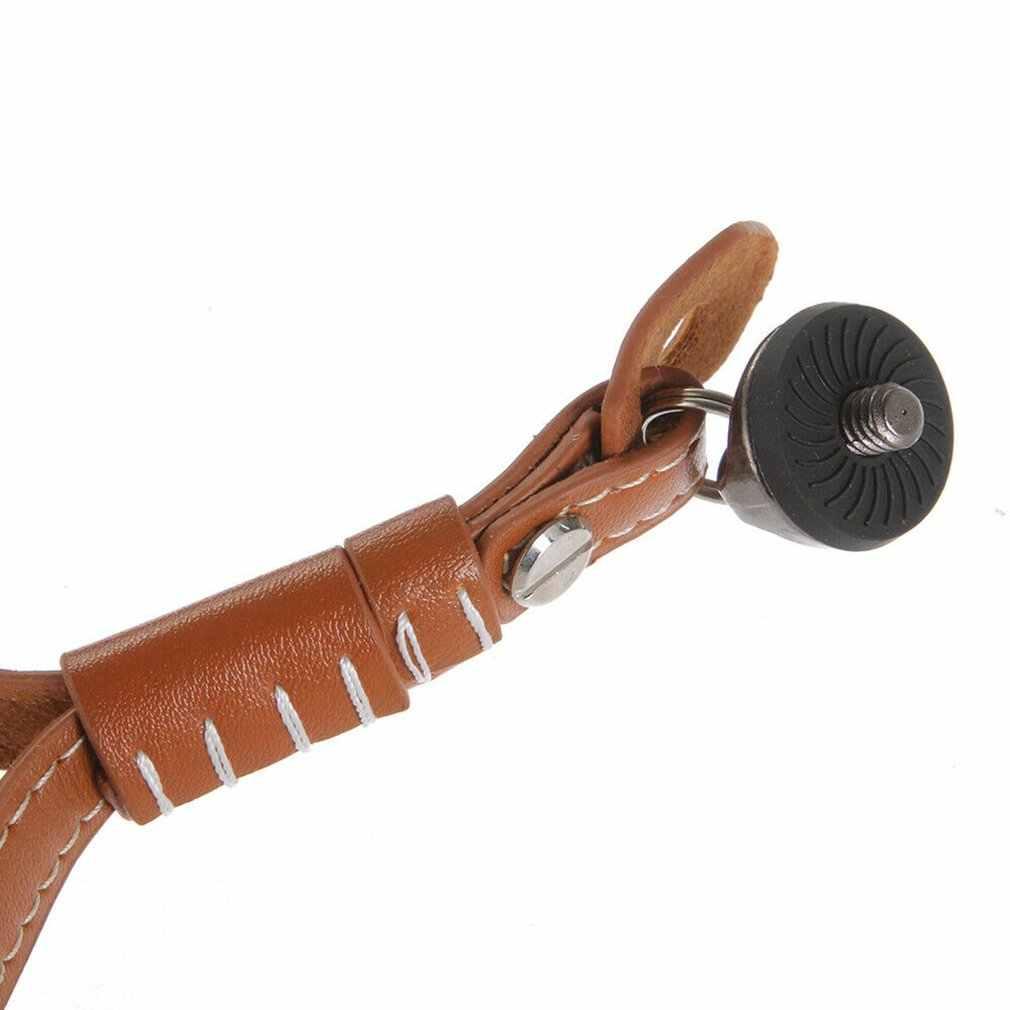 Smycz ze skóry PU pasek na rękę dla dji osmo mobile 2 Zhiyun gładka kardana ręczna ze śrubą 1/4 do lustrzanka cyfrowa
