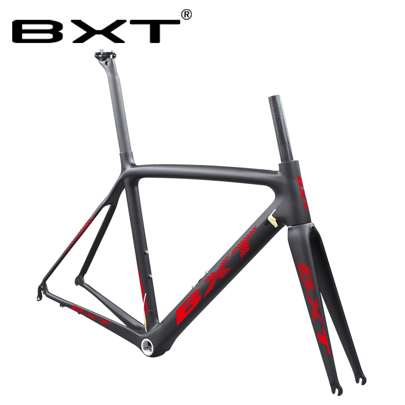T800 Carbon Road Bike Bicycle Frame V Brake Road Bicycle Frameset BSA Racing Cycling Frame Light Weight 980G Shipping Available