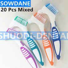 Dedicated Brush Tooothbrush Cleaning Brush Soft Multi-Layered Bristles Dual Brush Heads False Teeth Brush Oral Care Tool Y-shape denture cleaning brush multi layered bristles false teeth brush oral care tool bristles page 8