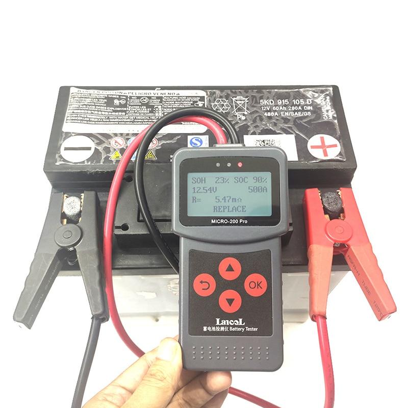 Tools : MICRO-200 PRO Car Battery Tester 12v 24v Multi-Language Digital AGM EFB Gel Automotive Load Battery System Analyzer For Car Moto