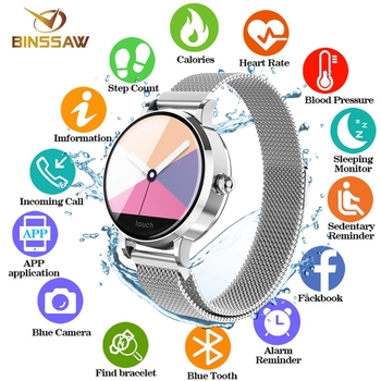 BINSSAW 2019 NEW Smart Bracelet Band With Heart rate Monitor ECG Blood Pressure IP68 Fitness Tracker Wrisatband Smart Watch+BOX