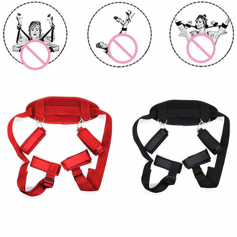 手錠 & 足首の袖口緊縛ボンデージ拘束緊縛スレーブゲームエロ大人のおもちゃカップルセックス製品