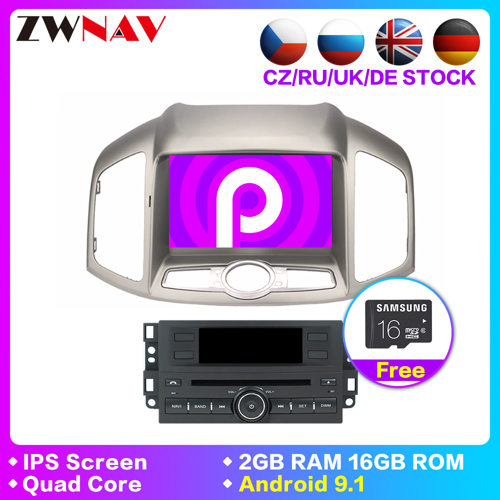 1 din Android 9.1 Car DVD Stereo For Chevrolet Captiva Epica 2012 2013 2014 2015 Auto Radio GPS Navi Multimedia Audio head unit image
