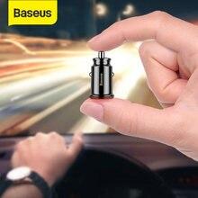 Baseus-cargador de coche para iPhone, Samsung, tableta, GPS, 3.1A, cargador de carga rápida, Mini USB Dual, adaptador de cargador de teléfono para coche