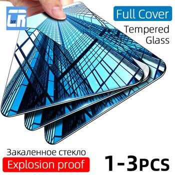 Перейти на Алиэкспресс и купить 3 шт. полное покрытие закаленное стекло для OPPO Reno 3 2 Z Ace 10 x zoom Защита экрана для Realme X Lite X2 X50 Pro защитное стекло