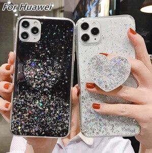 Чехол для Huawei P40 P20 Lite P30 Pro Mate 30 Lite чехол для Honor 20s 9X 8X 10i 20i P Smart 2019 nova 6 5i 5t Блестящий блестящий чехол