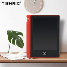 TISHRIC Graphics Tablet LCD Writing Tablet 4.4 inch Erasable Digital Drawing Pad/Tablet/Board For Kids Electronic With Pen цена 2017