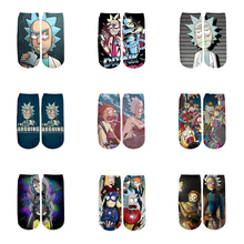 3D Printed Cartoon cute short ankle socks for Men Women harajuku novel