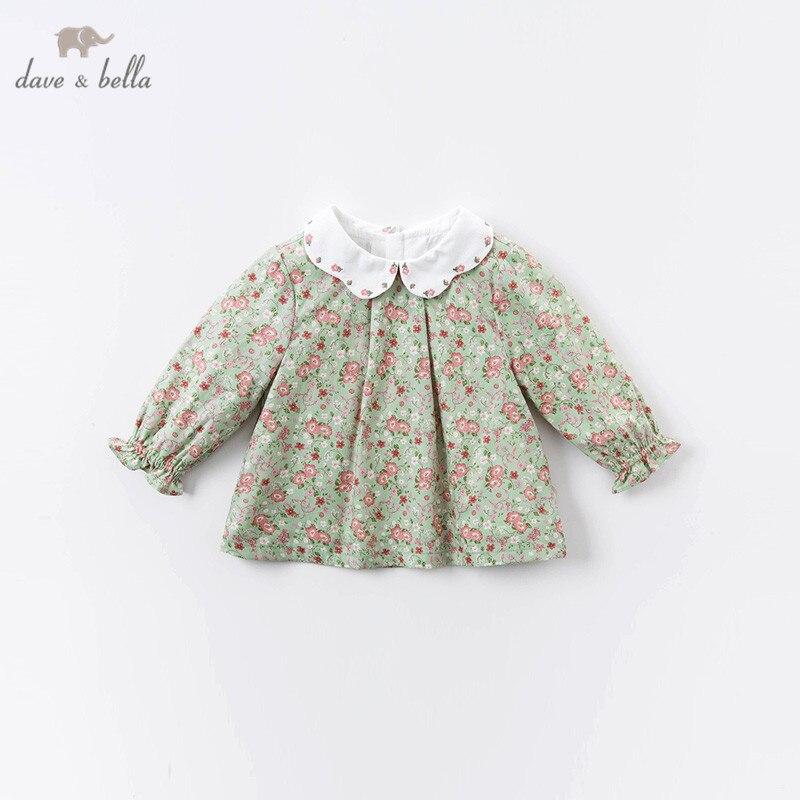 Dave bella/DBZ14793; Осенние Рубашки с цветочным принтом для маленьких девочек; Топы для малышей; Детская одежда высокого качества|Блузки и рубашки| | АлиЭкспресс