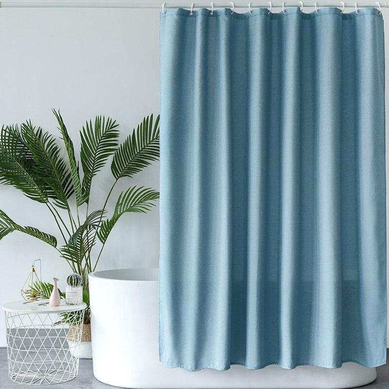 light blue shower curtain