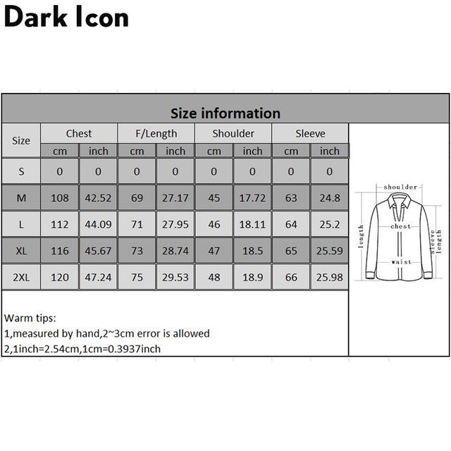 Dark Icon Fake 2pcs Patchwork Hip Hop Jacket 2019 Autumn Street Fashion Men's Jacket Coats Streetwear Clothing Men