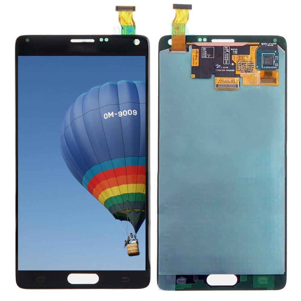 ORIGINAL 5.7'' Burn Shadow LCD Replacement For SAMSUNG Galaxy Note 4 Note4 N910  N910A N910F LCD Display Touch Screen Digitizer
