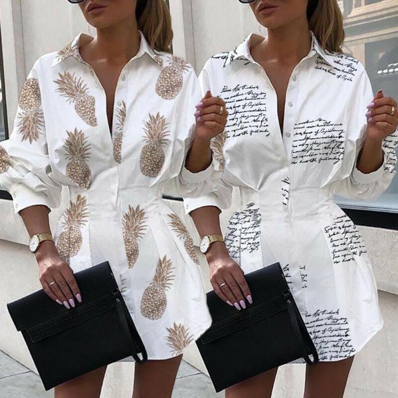 Pineapple/Letter Blouse Women's Shirt White Long Sleeve Blouses Woman 2019 Women Tops And Blouse Elegant Top Female Autumn Shirt