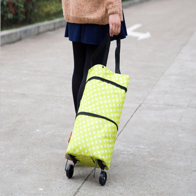 Hot Portable Folding Retractable Tow-Basket Bag Strap Bag Parachute Vegetable Basket Fruit Drink Gift Shopping Direct Delivery