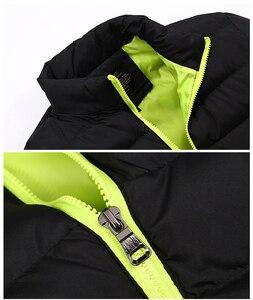 Image 3 - חורף מעיל גברים בגדי 2020 מוצק צבעים Ultra אור Parka Mens מעילי מעילי צווארון עומד בועת מעיל המשאף מעילים