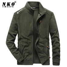 CHAIFENKO 2021 New Winter Fleece Jacket Parka Coat Men Casual Bomber Military Outwear Spring Thick Warm Tactical Army Jacket Men