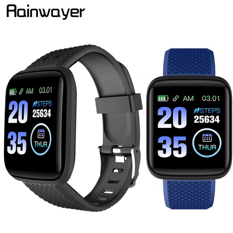 116 Plus Smart Watch Waterproof Blood Pressure Fitness Tracker Heart Rate Monitor Pedometer Smartwatch Bracelet Band D13