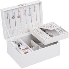 Casegrace Portable Travel Jewelry Box Organizer Leather Jewellery Ornament Case