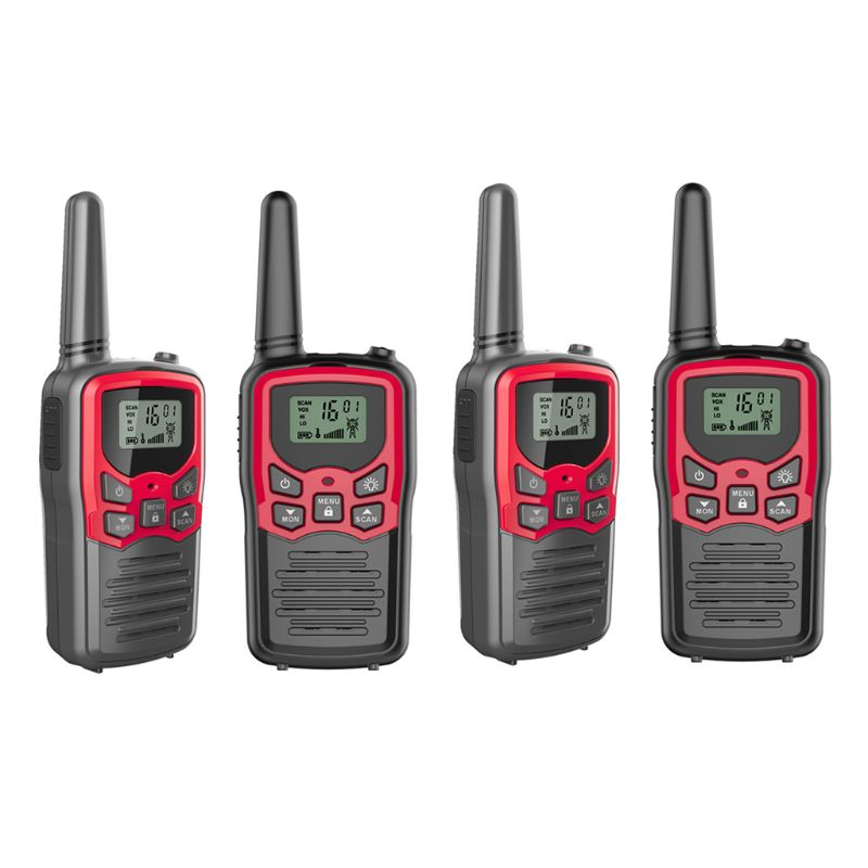 Walkie Radios Long-Range Adults 22-Channel FRS/GMRS for 4-Pack 2-Way Up To 5-miles-range/In/Open-field/22-channel