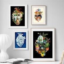 Cuadro sobre lienzo para pared, carteles nórdicos e impresiones, cuadros de pared para decoración para sala de estar