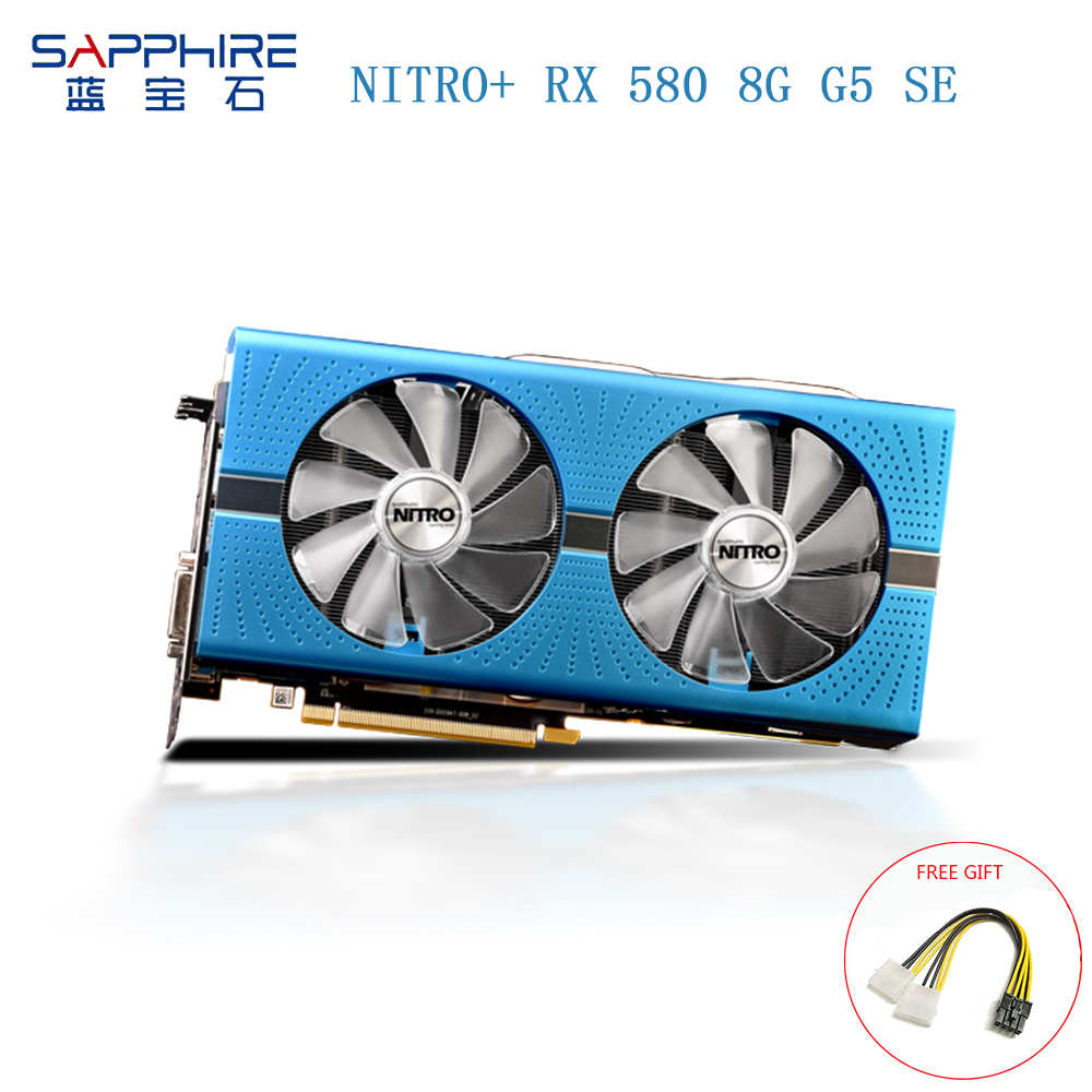 SAPPHIRE AMD Radeon NITRO+ <font><b>RX580</b></font> 8GB GDDR5 256bit <font><b>RX580</b></font> Video Card Desktop PC Gaming Graphics Card for Gaming Deaktop Used Cards image