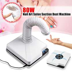 80W/60W Strong Power Nail Suction Dust Collector Nail Dust Collector Vacuum Cleaner Nail Fan Art Salon Nails Manicure Machine