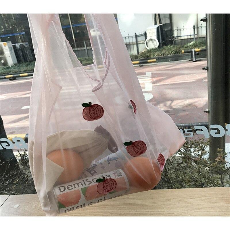 Fashion Fabric Personalized Fresh Fruit Bag Shopping Reusable Bag Embroidered Hawaiian  Shoulder Bag For Women Gift
