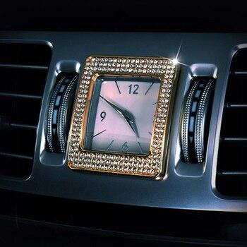 لمرسيدس بنز E CLS الفئة W212 W218 اكسسوارات السيارات المركزية ساعة التحكم ساعة ساعة الطاولة حلقة غطاء الكسوة الماس ملصق مائي