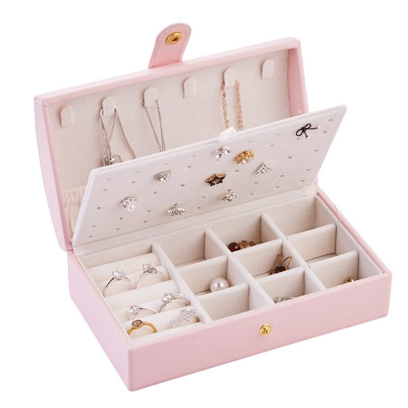 Купить с кэшбэком Large capacity Jewelry organizer storage box Earring holder Packaging display case Earings fashion jewelry display jewelry box