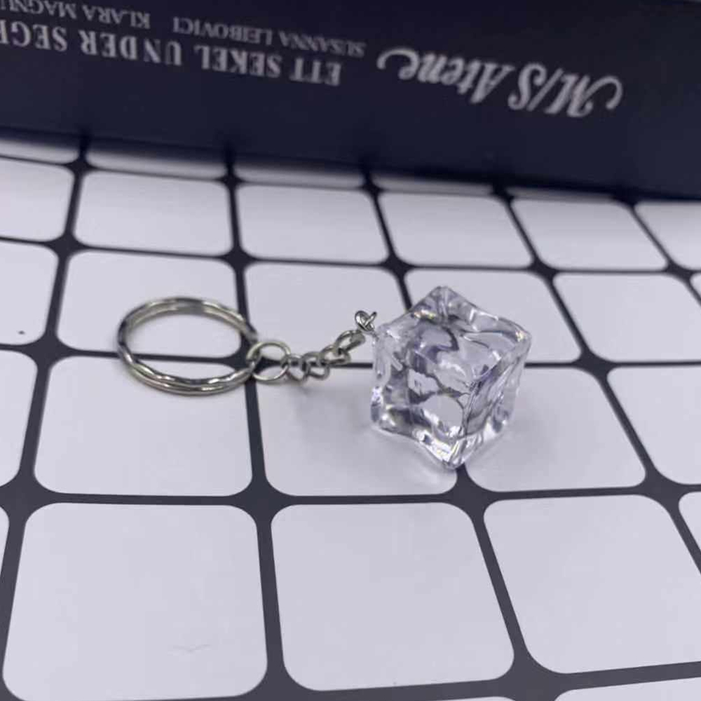 New Ice Cube Keychain Key Chains Key Rings Alloy Charms Gifts  Wholesale