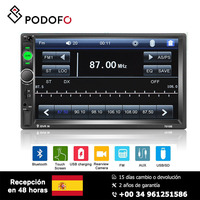 Podofo 2 din car multimedia player 7'' Mirror Link Bluetooth Multimedia USB Autoradio Rear View Camera Connection HD Player MP5