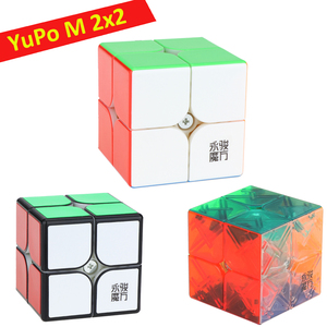 YongJun YuPo V2 M 2x2x2 Magnetic Cube YJ 2x2 Speed Cube Stickers Puzzle cubo magico Kids Toys for children