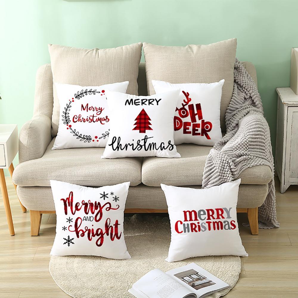 45x45cm Cartoon Weihnachtsmann Elch Weihnachten Kissenbezug - Partyartikel und Dekoration - Foto 6