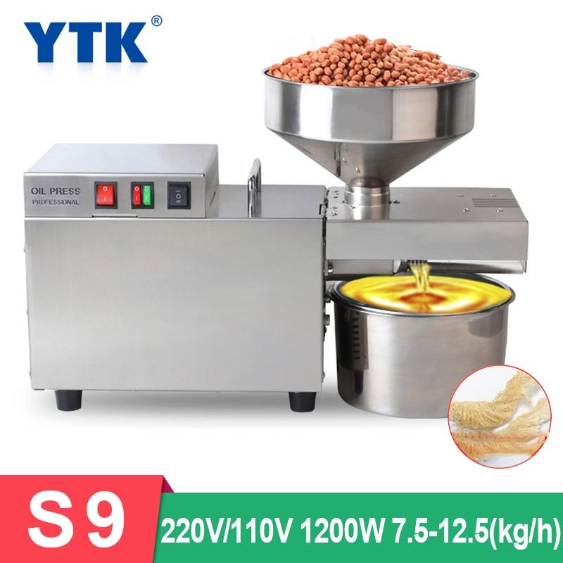 S9 автоматическая машина для прессования масла, мощный умный коммерческий пресс для масла, семян подсолнечника, экстрактор арахиса 1500 вт (ма...