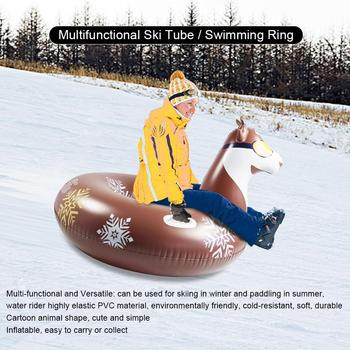 2 in 1 multifunctional Inflatable Snow Tube with Handle Multi-functional Environmental Friendly Cold-resistant Inflatable Snow S