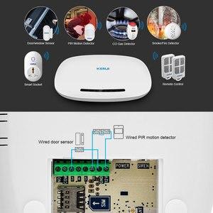 Image 3 - Kerui w19 무선 안드로이드 ios app 원격 제어 홈 보안 경보 시스템 gsm 창고 도난 경보 키트 미니 센서
