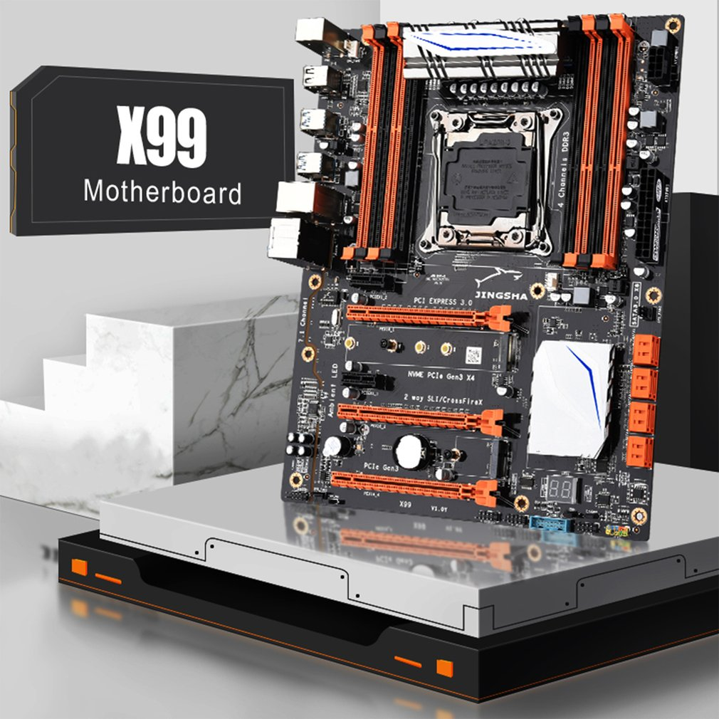 Deerma Motherboard X99 Chipset Mainboard Lga 2011-3 Mother Board Support Intel Xeon E5-2678v3 / 2669v3 / 2649v3 / 2629v3