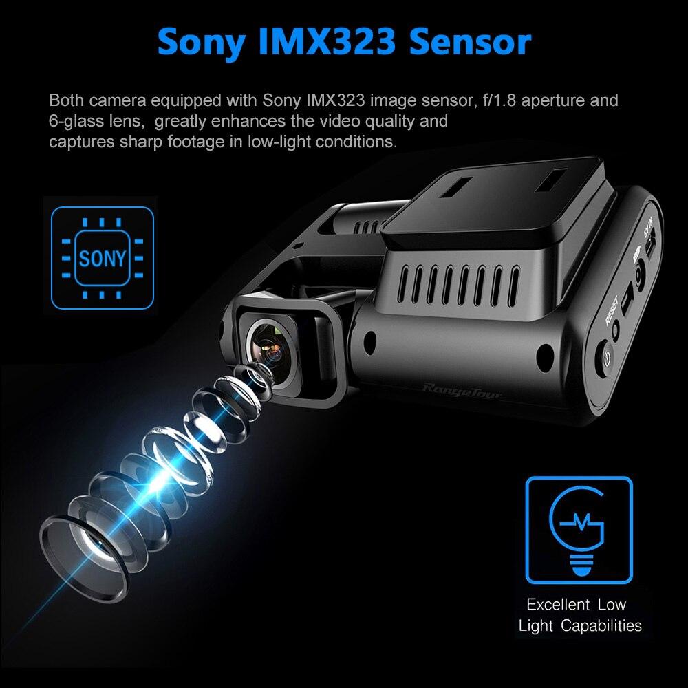 Image 2 - 4K 2160P واي فاي لتحديد المواقع مسجل سيارة بعدسة مزدوجة DVR نوفاتيك 96663 رقاقة سوني IMX323 الاستشعار للرؤية الليلية كاميرا مزدوجة كاميرا التسجيل الخاصة بالسيارات D30H-في كاميرا DVR/Dash من السيارات والدراجات النارية على AliExpress