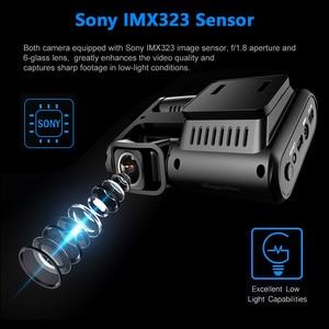 Image 2 - Wideorejestrator samochodowy rejestrator GPS 4K 2160P, wiFi, podwójny obiektyw, Novatek 96663 chip Sony IMX323 czujnik noktowizor, D30H
