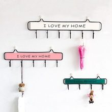 sobuy fhk09 sch metal wall mounted letter rack and key holder wall coat rack wall shelf unit with 6 hooks New Creative Wall Mounted Clothes Hanger 4 Hooks Hat Key Holder Laundry Coat Rack Hanging Storage Shelf For Home