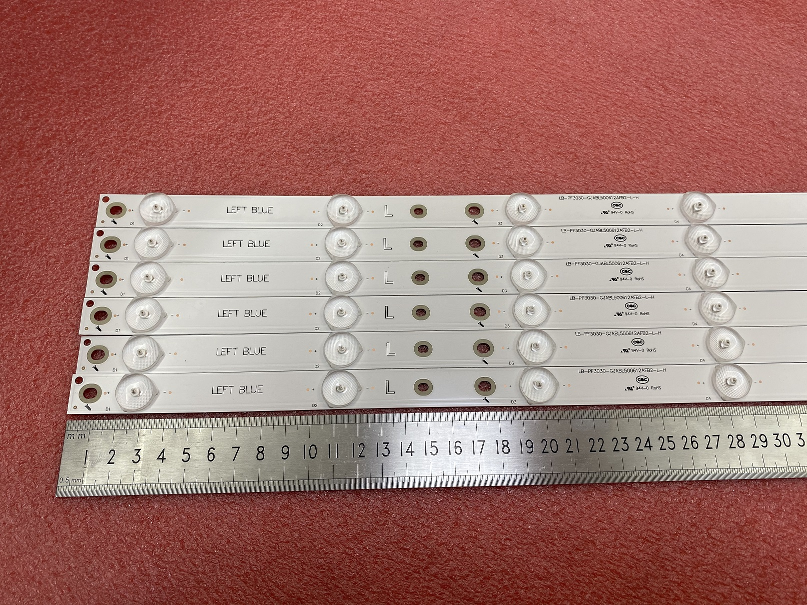 Image 5 - New 12 PCS/set LED backlight strip for 50PUH6400 50PUF6061 500TT67 V2 500TT68 V2 CL 2K15 D2P5 500 D612 V1 R L-in LED Strips from Lights & Lighting