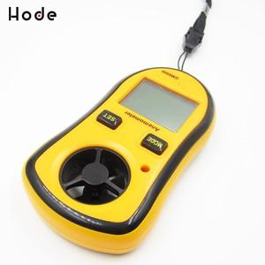 Реальный цифровой тахометр Gm8908 ручной воздушный измеритель скорости ветра цифровой анемометр термометр