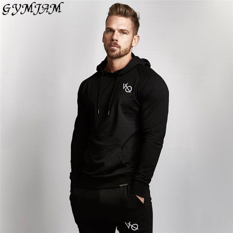 Casual Streetwear Men's Hoodies Cotton Raglan Sleeves Sports Pullovers Best Selling Brand Fitness Men's Sportswear