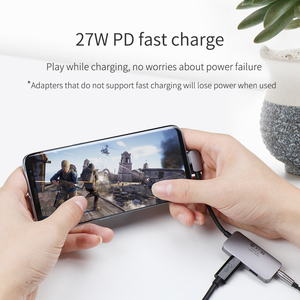 Image 4 - Hagibis Typ C conventer USB C zu 3,5mm Kopfhörer jack Adapter PD schnelle ladung typ c audio für Huawei P30 pro Xiaomi Oneplus